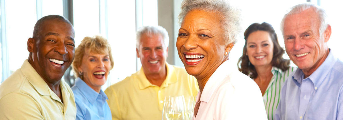 Group of Senior Citizens Smiling